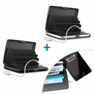 Card Guard Power Wallet 2 Stk. Geldbörse inkl. Ladegerät Mediashop