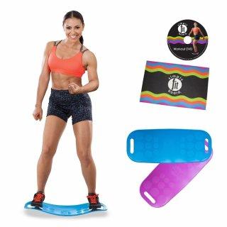 Partner-Set Simply Fit Board Fitnessgerät inkl DVD und Trainingsmatte Balance Board Workout Twist das Original von Mediashop