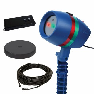 Star Shower Motion Laserlicht System inkl. Fernbedienung & 20m Kabel & Indoorsockel