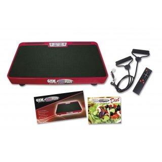 Vibromax Plus Vibrationsplatte Ganzkörper Trainingsgerät rutschfest große Fläche inkl Trainingsbänder Ernährungsplan