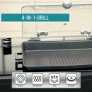 LIVINGTON Kitchen Grill Low Fat Set - 4 in 1 Indoor Grill - Butterfly Boden - Aromadeckel