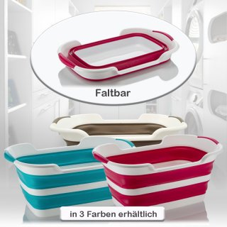 Faltbarer Wäschekorb, Faltwäschekorb, Wäschewanne, Plastikwanne, klappbar, Korb 3 Farben