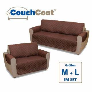 Schonbezug SET Couch Coat 2-Sitzer und 3-Sitzer braun/beige Original aus dem TV