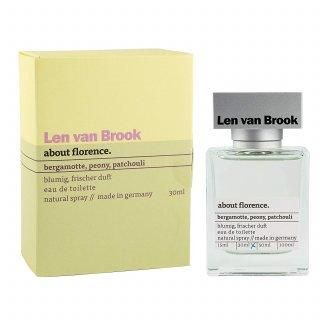 "Jean & Len Damenduft ""about florence"", Parfüm für Frauen, Eau de Toilette, blumig frischer Duft, 30 ml"
