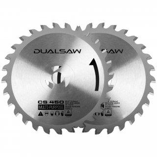 1 Satz original Sägeblätter/ Sägeblatt  für Dual Saw CS 450 Doppelblattsäge Ø 115 mm - Das Original aus der TV Werbung von Mediashop