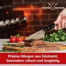 Trusted Butcher Messer Set 4-teilig - hochwertiges Profi Kochmesser Knife Scharf Kochmesser cheff grill