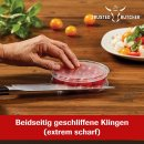 Trusted Butcher Messer Set 4-teilig inkl. Magnetleiste - hochwertiges Profi Kochmesser Knife Scharf Kochmesser cheff grill