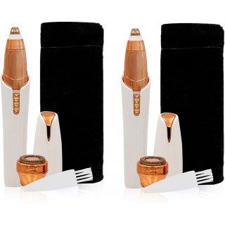 2x Roxy Perfect Brows Augenbrauenrasierer – Präzisionstrimmer für makellose Augenbrauen – schmerzfreier Augenbrauen Epilierer – LED und 18 Karat Gold Rasierkopf
