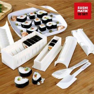 Sushi Former Sushi Matik - Nigiri Gunkan Maki Formen - Reis Mold Maker - 10 tlg.