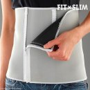 Fit & Slim Sauna Belt Sport Abnehm Gürtel Just Slim Zipper Slimmer Unisex
