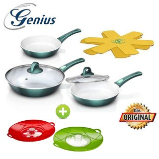 AKTIONS-SET- GENIUS Cerafit Fusion Pfannen Set 7 tlg +...