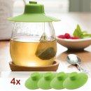 4x Tap It Tap Silikondeckel für Tee