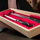 SCHINKENMESSER - Messer Set - inkl Schärfer - im Holzetui