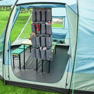 Camping Reiseschrank Organizer mit Taschen und Spiegel (16 Fächer) Zelt Wowa