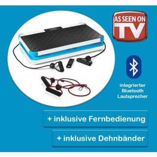 Vibrationsplatte inklusive Dehnbänder und Fernbedienung- NEU