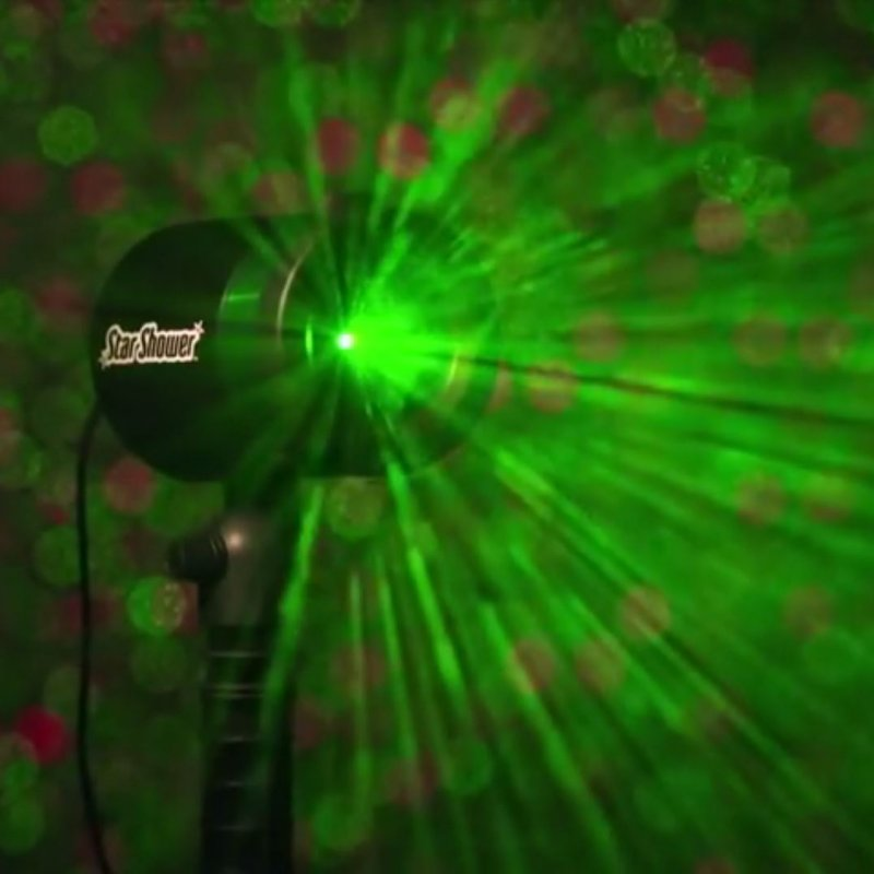 Star Shower Sterne Show Weihnachten Laser Garten Licht 3990