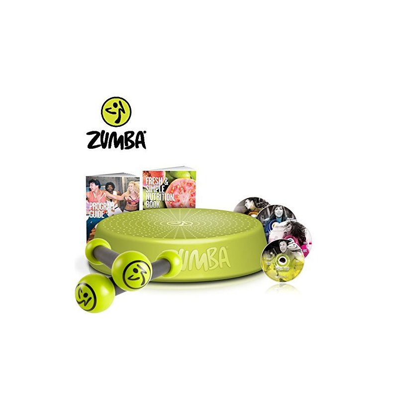 Zumba Fitness Incredible Results DVD-Set + Zumba Step Rizer + Toning Sticks 0,5 kg im Set