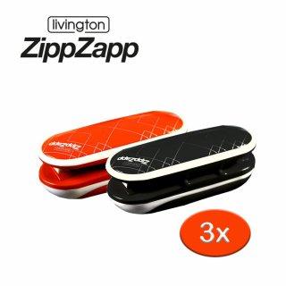 Zipp Zapp Universalversiegler 3 Stück rot schwarz Versiegeln Verschließen Aufbewahren das Original von Mediashop