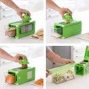 Cube Gemüseschneider und Reibe 8 in 1 Magic mit Rezeptbuch