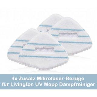 Zusatz Mikrofaser-Bezüge passend für Livington UV Mopp Dampfreiniger